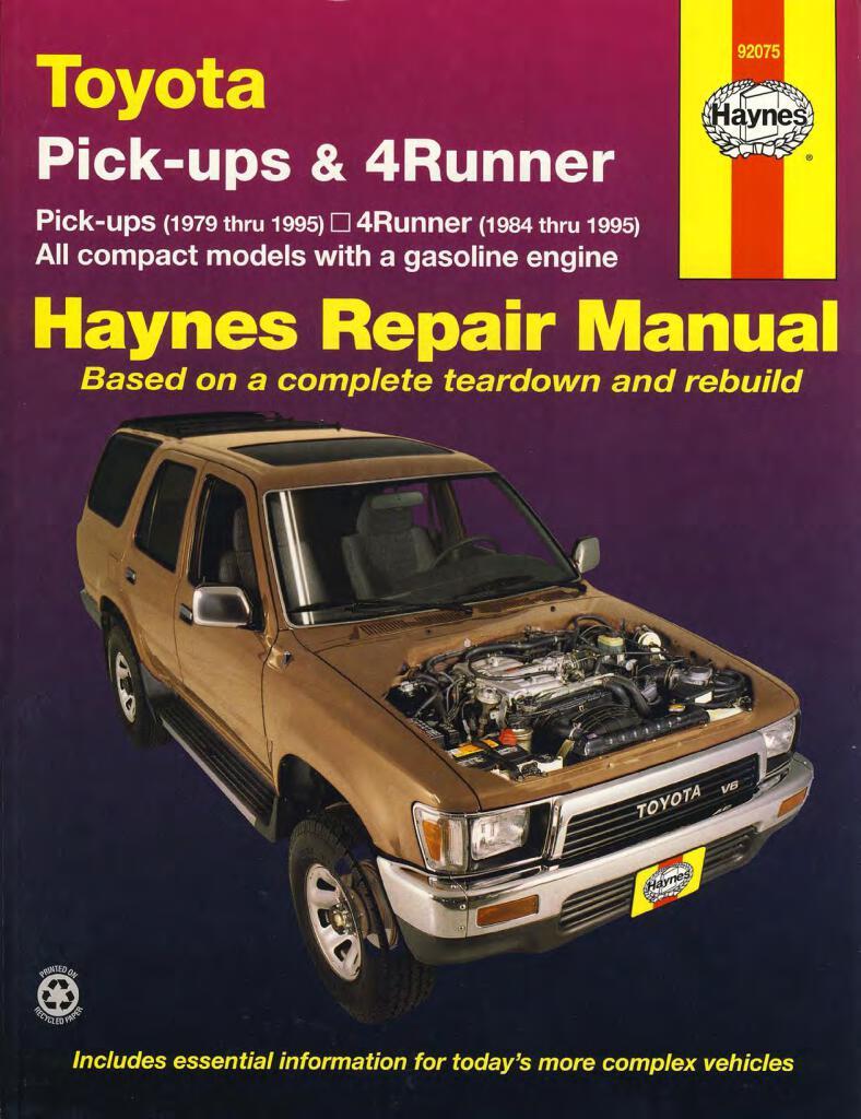 Hilux 4runner Haynes Service Repair Manual Pdf  41 5 Mb